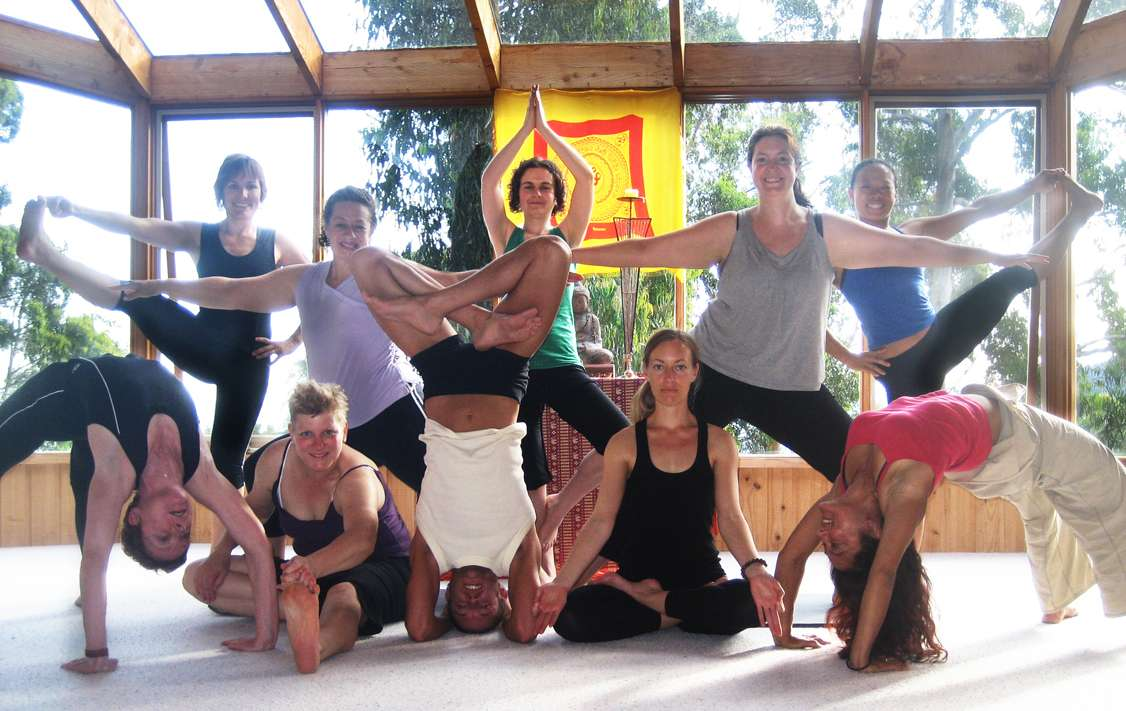 Happiness on yoga retreat